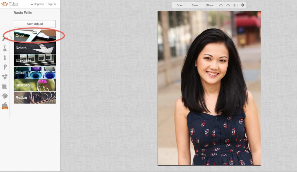 How to Create a Blog Button - Crop Photo