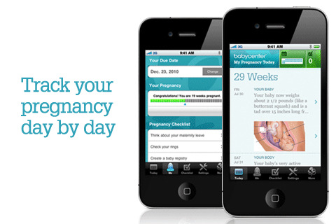 This free pregnancy app lets you track your symptoms, your pregnancy weight ...