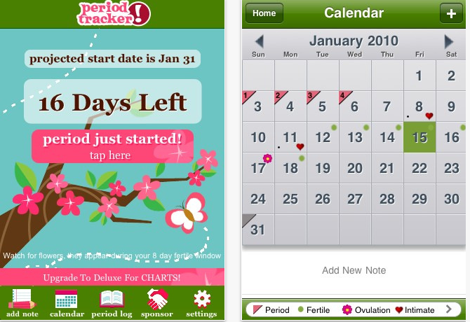 Best iPhone Period Tracker Apps to Track Menstrual Cycles Menstrual Cycle Calendar App
