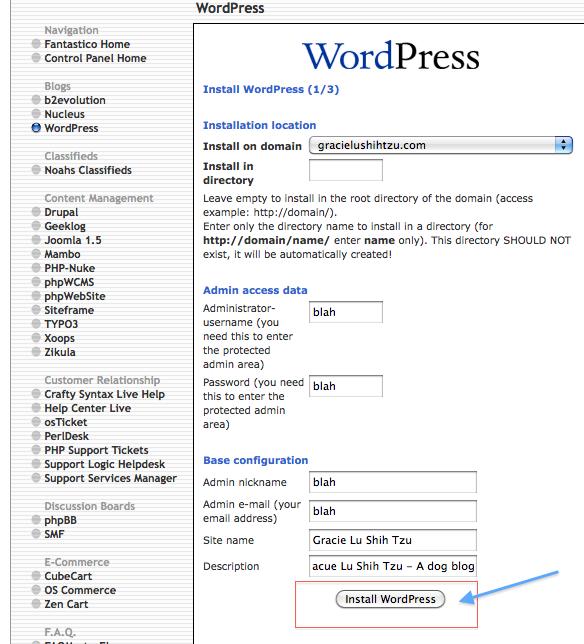 Wordpress migrate