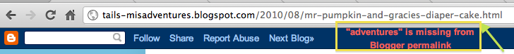 Blogger URL